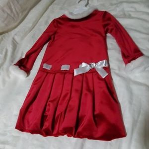 3T Christmas Red Velour Dress - Marc&Maddie